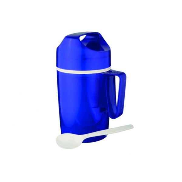 Portavivande+Cucchiaio Blu Hyperblue 0,85L Rotpunk. Cod. 060410
