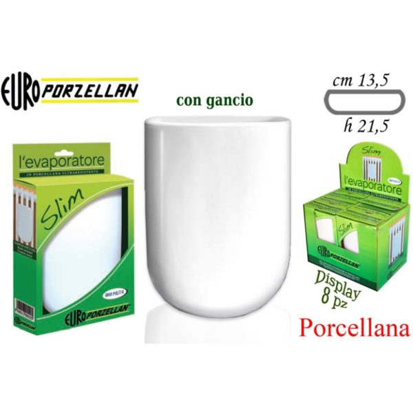 Evaporatore 'Slim' Bianco 13,5X21,5Cm. Cod. 110541